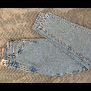 Zara high rise mom jeans